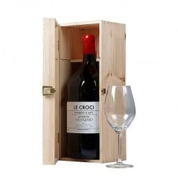 Barbera d'Asti Le Croci 2014 - 3 liters flaske i lækker trækasse. Italiensk rødvin til den store fest!